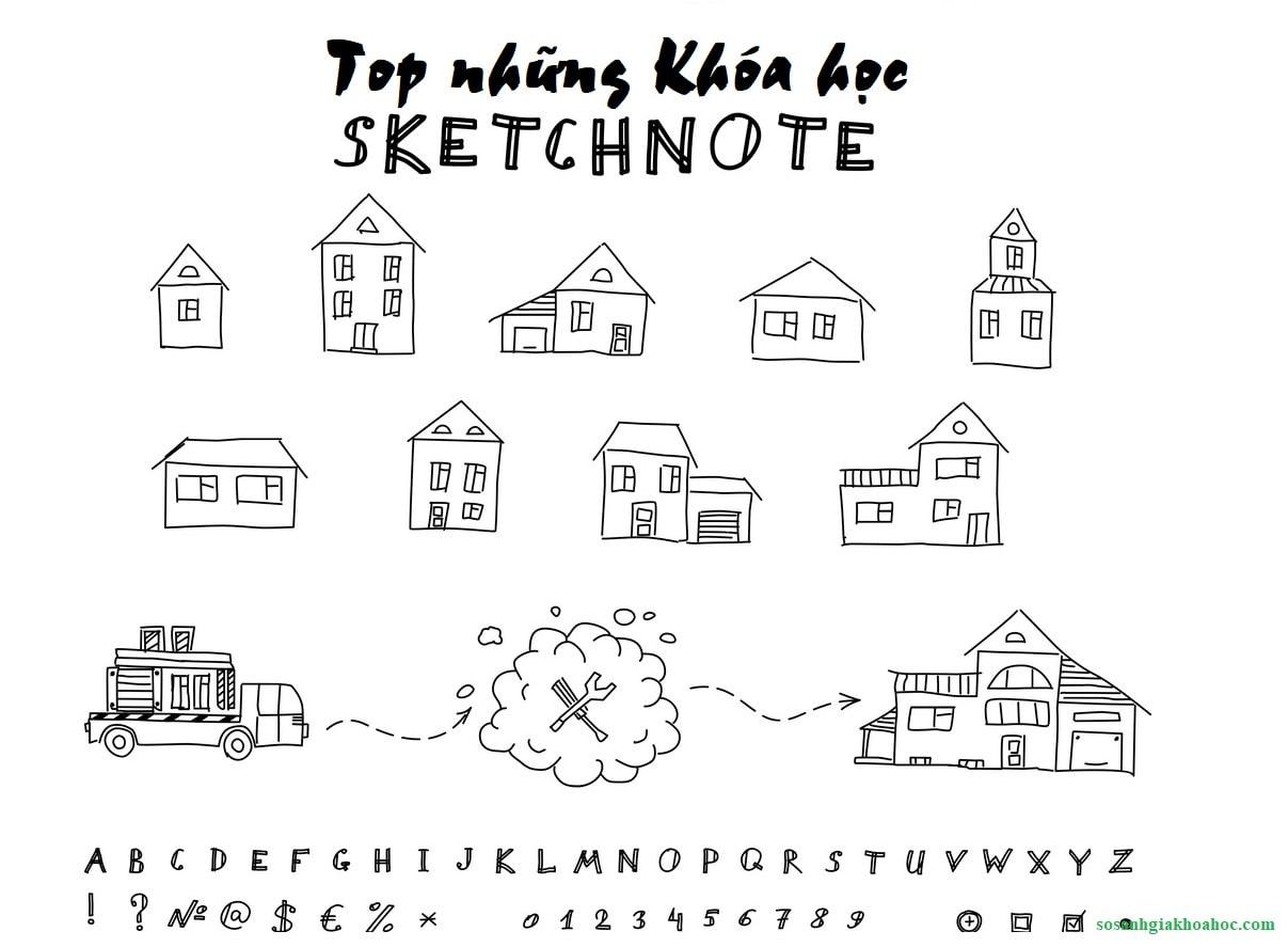 4 Khóa học vẽ Sketchnote - Diễn họa thông tin bằng hình ảnh {Year}